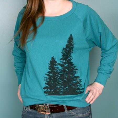 Women's Evergreen Tree Long Sleeve2